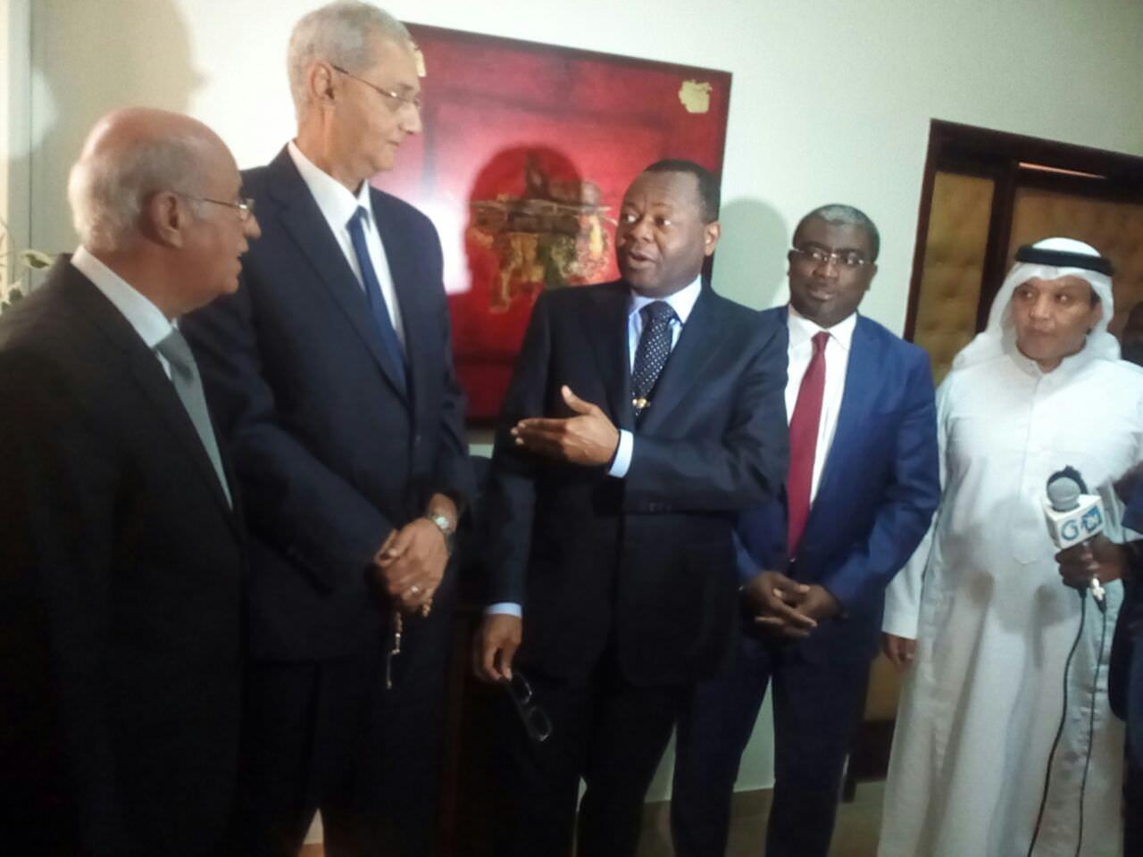 Les investisseurs des Emirats Arabes Unis chez Oyiba  pour parler du réseau routier national