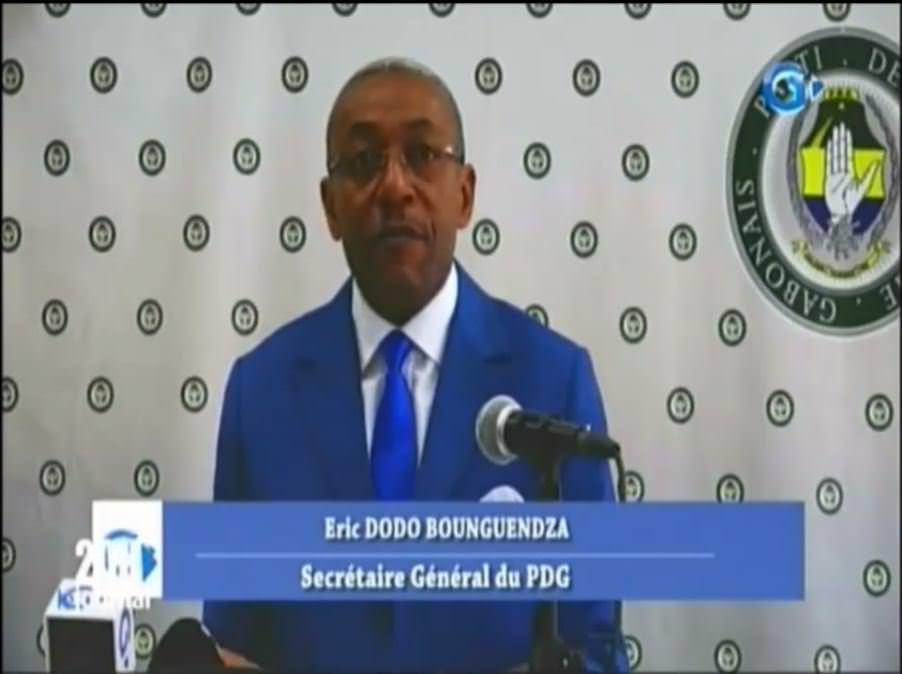 PDG : CONFÉRENCE DE PRESSE de M. ERIC DODO BOUNGUENDZA