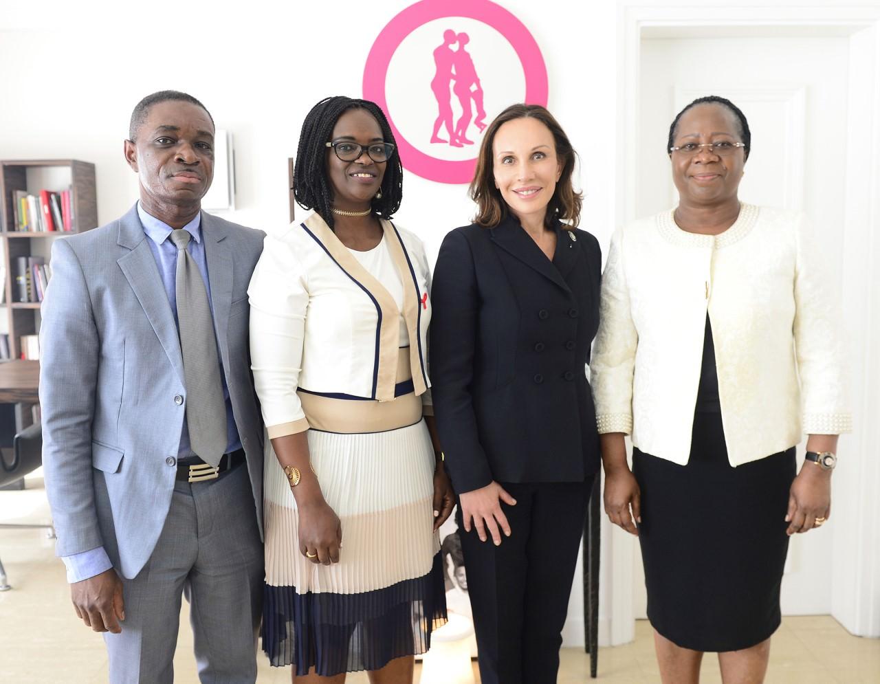 Lutte contre le sida: Sylvia BONGO réaffirme sa détermination et son engagement