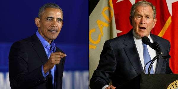 USA : La double charge d'Obama et Bush contre Trump