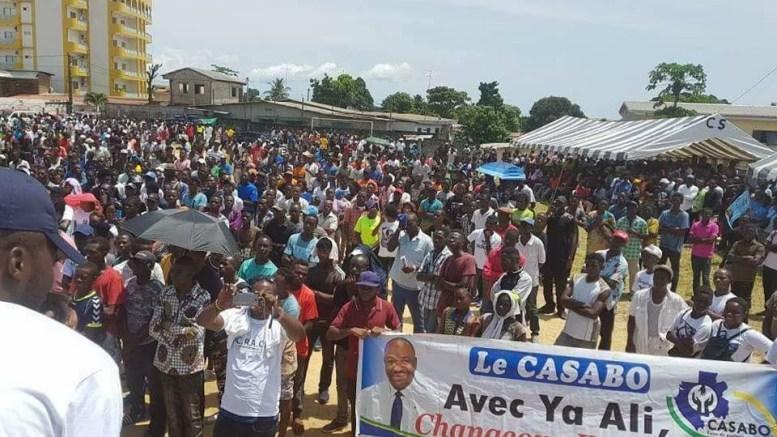 Gabon: Des Jeunes derrière Ali Bongo