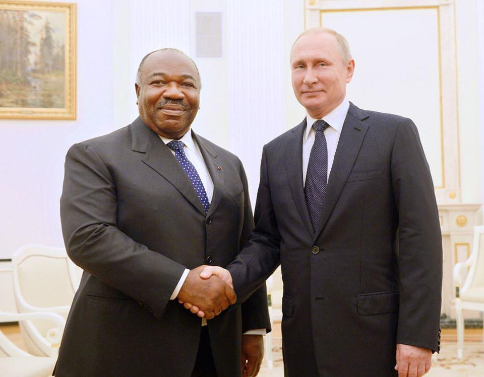 Ali Bongo Ondimba en visite de travail et d'amitié au Kremlin (Russie)