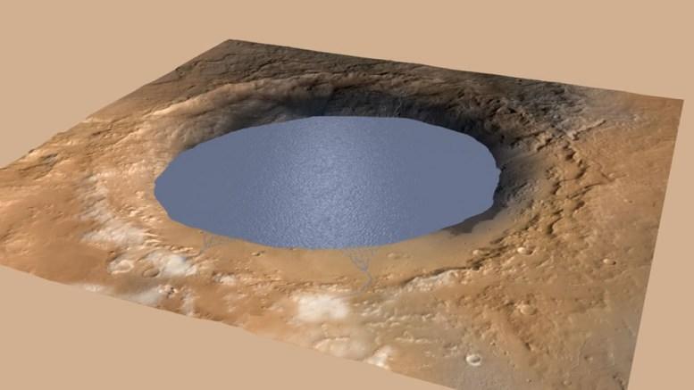 Mars : Les scientifiques découvrent un lac d'eau liquide