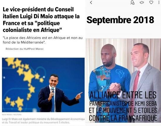 Lien tissé entre le panafricaniste Kemi Seba et le gouvernement italien