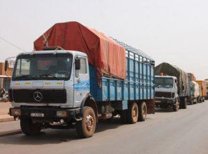 GREVE ILLIMITEE DES CHAUFFEURS ROUTIERS  : Des dizaines de camions bloqués le long de la RN1