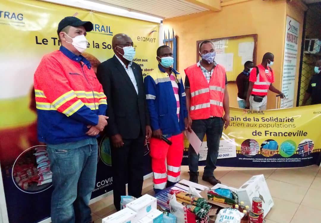 Covid19/Train de la solidarité/Gare de Franceville : le maire  salue l'action de la Setrag.