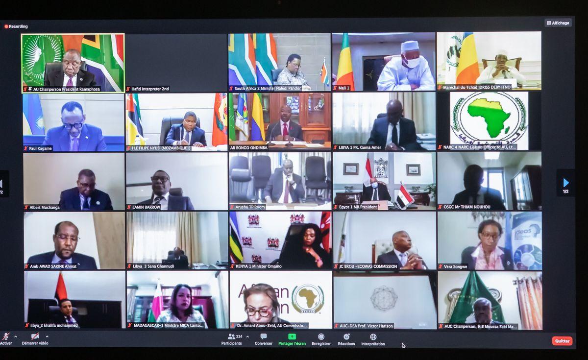 Le Président Ali Bongo Ondimba prend part à la deuxième réunion de coordination entre l'Union Africaine , les communautés économiques régionales et les mécanismes régionaux