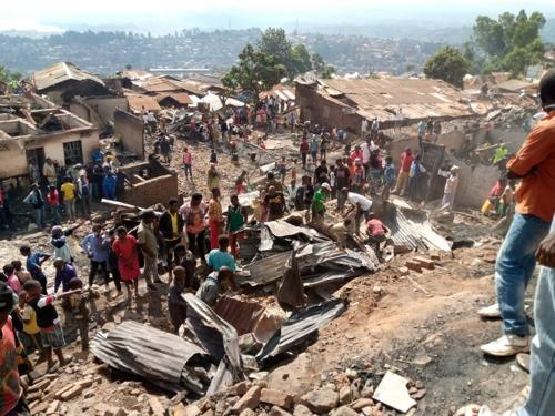 Sud-Kivu : incendie à Kadutu, 7 personnes blessées et plus des 20 maisons calcinées