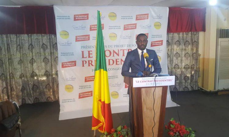 Congo/Politique: Présidentielle 2021, Dave Mafoula présente son projet de société