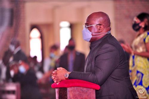 RDC : le Président Tshisekedi participe à une messe d'action de grâce pour rendre hommage à Lumumba